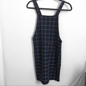 Navy blue pinafore dress with pattern from Primark
